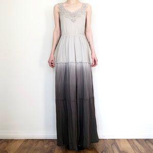 MAURICES Boho Ombré Crochet-Trim Maxi Dress
